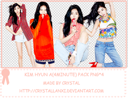 Kim Hyun A(4minute) pack png*4 by Crystallanxi