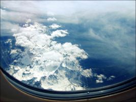 Through the Plane Window. by Zwoing