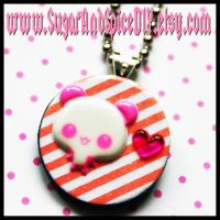 Panda Love Wooden Charm by wickedland