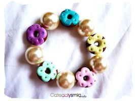 Delicious Donut Bracelet by Cateaclysmic
