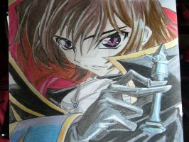 Lelouch Lamperouge -Code Geass by GXrocksmysox7
