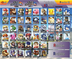 Smash Bros. 4 Dream Roster by MagnetarMaster