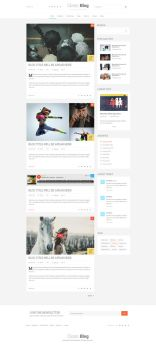 Clean Blog PSD Template by sunilbjoshi