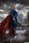 Henry Cavill as Superman (Colorized) by Super-TyBone82