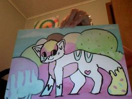 icecream tail painting by wingedkin