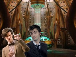 10th doctor meets the 11the doctor by turian097
