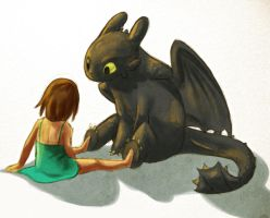 Toothless and Me by Atlantistel