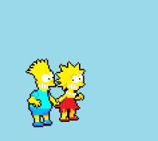 Bart and Lisa by Cybersquatch