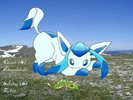 Shiny Glaceon and Caterpie by tori99