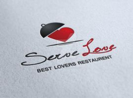 Serve Love Restaurant Cafe Food Logo by ExtremeLogo