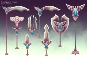 Thor Weapons Concept by slipled