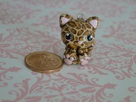 Chibi Leopard Polymer Clay by sanxcharms