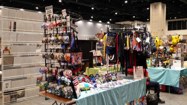 Small Table Setup at Oak City Comicon, Raleigh NC by AllisonEast