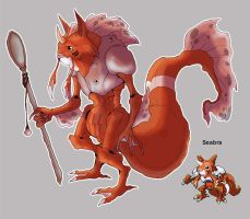 Pokemon Fusion-Seabra by Little-Hofundur