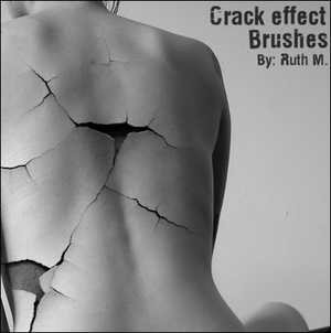 Crack Effect Brushes by ~funerals0ng