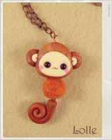 Clay Flurry Monkey by LolleBijoux