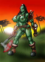 orc warrior. nude by Lordstevie