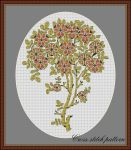 Art nouveau cross stitch pattern - tree pattern by Rovenaru