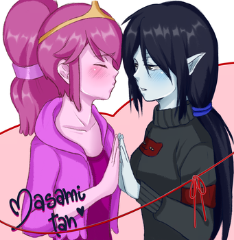 Princess bubblegum and Marceline by Masami-Tan