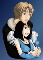 Commission - Squall and Rinoa by akiwitch
