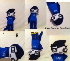 John Egbert God Tier Plushie by CoeurPleinDeNoir