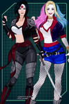Katana and Harley by evangeline16williams