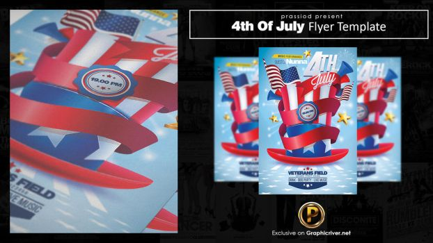 4th Of July Flyer Template by prassetyo