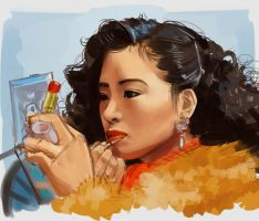 Gong Li Practice (Woah Asami? is that you??) by Shattered-Earth