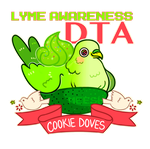 DTA! Lyme Awareness Cookie Dove by xAerisx