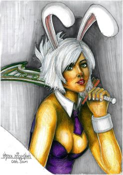 Battle Bunny Riven League of Legends by AmandaBloom