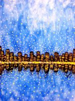 A Metropolis in a Starry Night by S-A--K-I