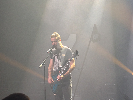 Muse Concert 13/12/13 - Chris Wolstenholme #2 by Megalomaniacaly
