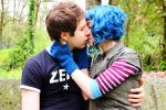 Scott Pilgrim and Ramona Flowers by Nerdbutpro
