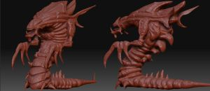 Hydralisk Rodeo - Sculpt by FrZnChAoS