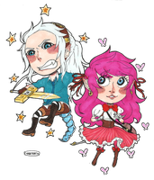 ERROR: Niwatori and Kate by SpookyChester