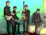 The Beatles And Pete Best In Color by SixtiesRockGuy