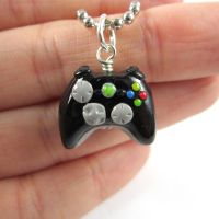 Xbox 360 video game controller necklace by TrenoNights