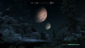 Skyrim: Two moons. by ThatCatstabber