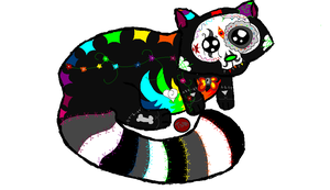 Sugar Skull Panda-Coon fo sepperoni by Dysfunctional-H0rr0r
