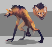 Maned Werewolf by lapriel