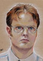 Dwight Shrute Sketch Card by Ethrendil
