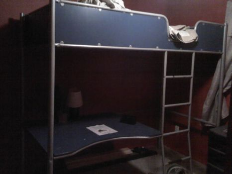 The bunkbed/desk that my little brother used (WBT) by Xario1