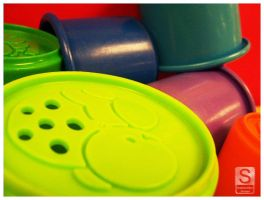 Multi-coloured Play Cups 2 by deftones