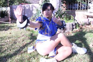 Chun li fighting position by JessiieFase