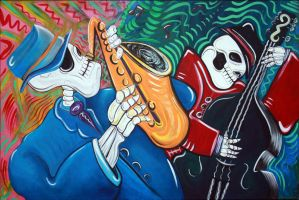 The Bad Blues Bones Band by barbosaart