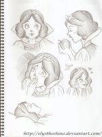snow white sketches by Ely18Hoshino