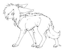 Doggy lineart BMP by Axxread