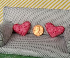 Miniature Heart Pillow Pair by Kyle-Lefort