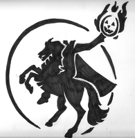 Headless Horseman stencil by Ikasama
