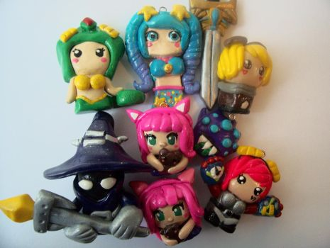 League of Legends Clay Figures by Stawry